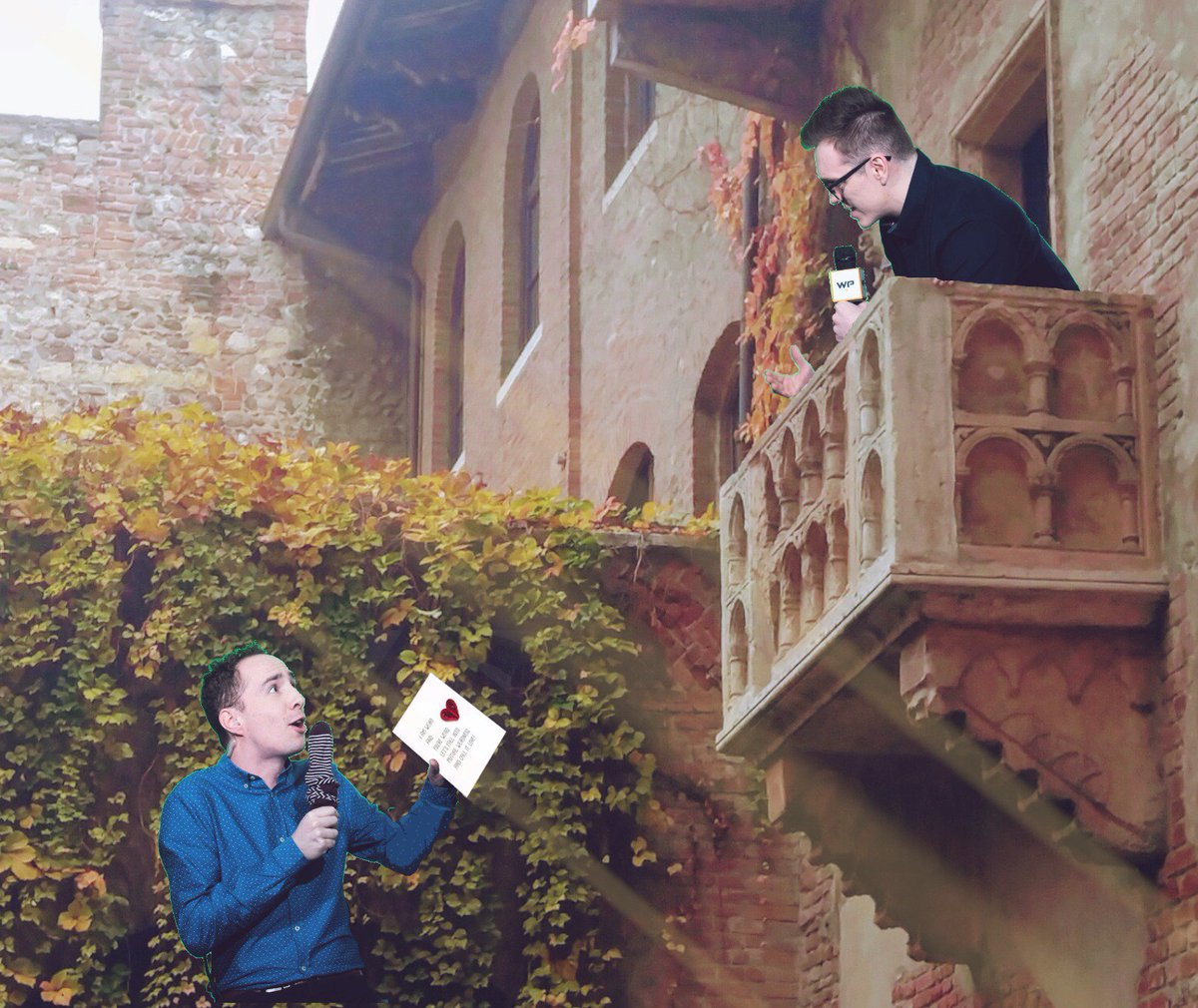 Romeo and Juliet: Balcony Scene, Act 2, Scene 2 (with a valentine card) <br>http://pic.twitter.com/g2dGsrqcsz