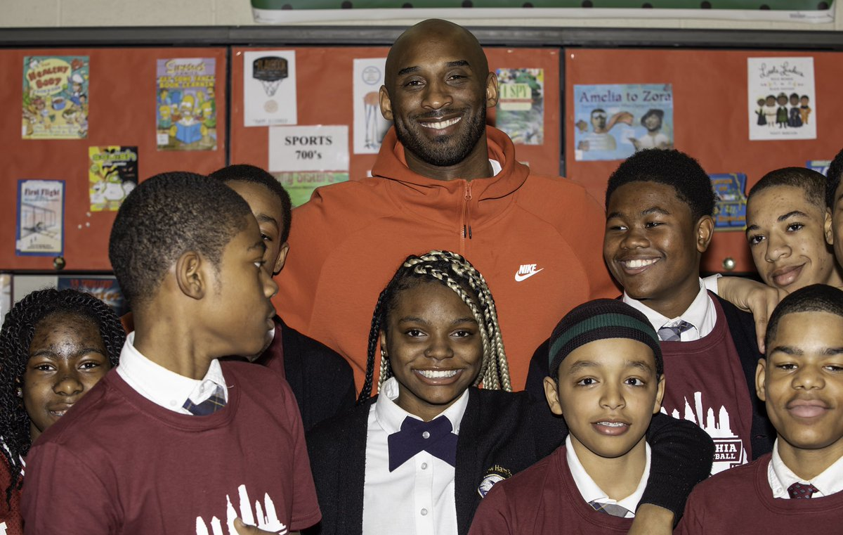 Going back to my hometown to visit the kids of @PhillyYouthBB was such a meaningful moment. I'm humbled to be in the position to inspire members of the next generation and honored to share my newest story. The #Wizenard Series is available now: http://bit.ly/kbwizenard  #iampyb