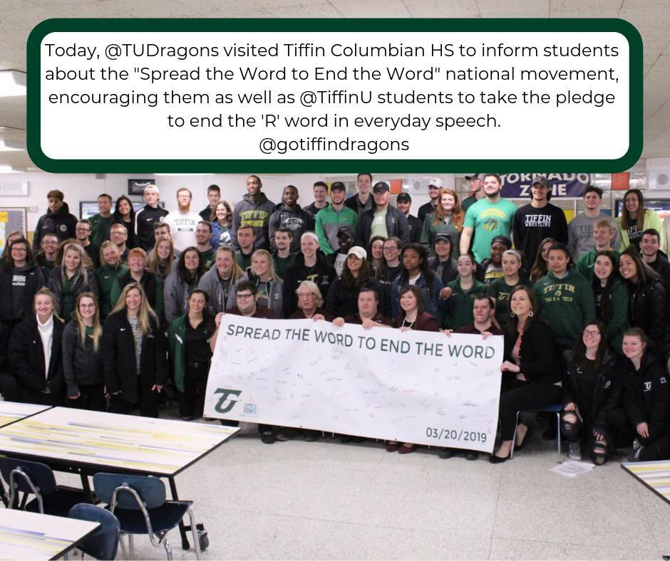 Our #POTW comes from @gotiffindragons. #spreadthewordtoendtheword #TiffinPledgesToInclude