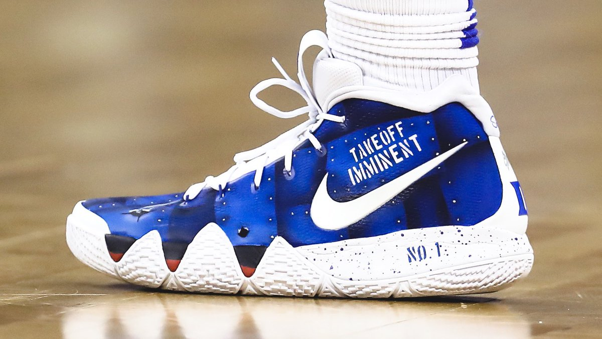 ed1c2b13fe5e zion williamson custom duke nike kyrie 4 pe kicksoncourt streeter lecka  getty images