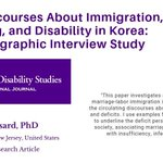 Image for the Tweet beginning: 'Cultural Discourses About Immigration, Mothering,