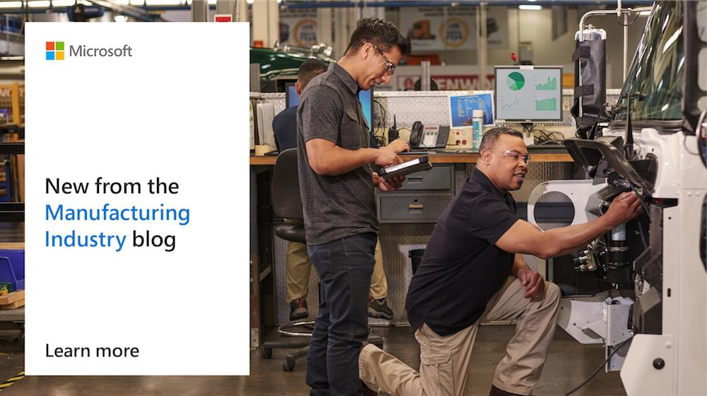 Advancements in #IoT and #AR are changing the manufacturing industry. Explore the latest solutions: http://msft.social/JSITDQ