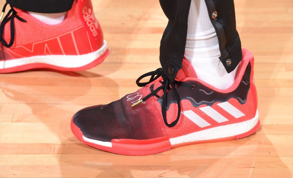 James Harden in the adidas Harden Vol. 3 at home! #NBAKicks