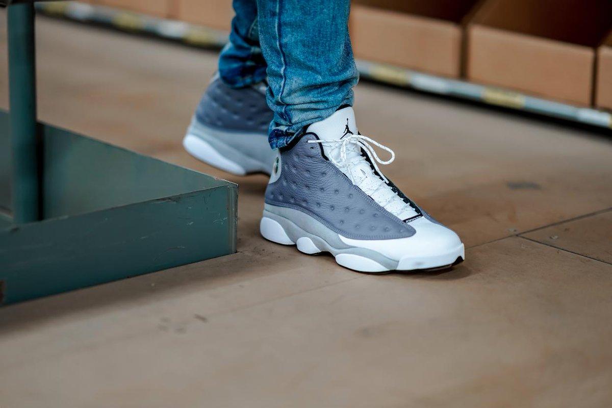 "86b66114414 Air Jordan 13 ""Atmosphere Grey"" Release Date: March 23rd, 2019 $190 Color: Atmosphere  Grey/White-University Red-Black Style Code: 414571-016 ..."