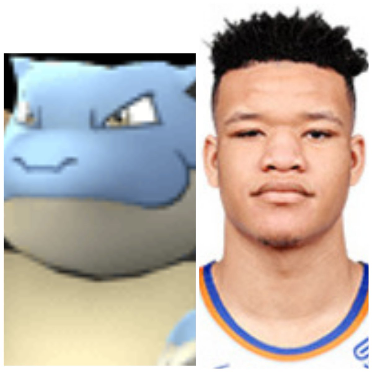 When you realize @KevKnox is related to a #pokemon... 🤔 @nyknicks