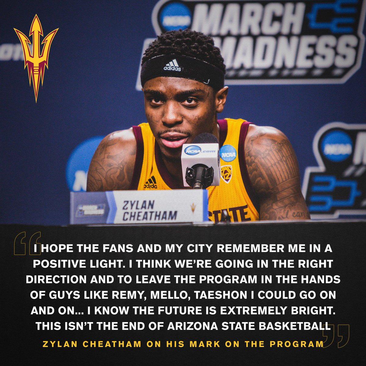 Left his mark at ASU 🔱  Thank you @1KingZ4 #HometownHero