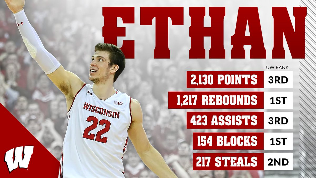 One of the Wisconsin greats  Proud of the way you represented our program, both on and off the court, @EthanHapp22  #OnWisconsin <br>http://pic.twitter.com/q4n6mqIPNG