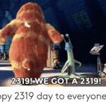 In the movie monsters inc(2001).The 2319 code signifies w which is 23rd letter in the alphabet and s which is 19th letter. w.s=white sock