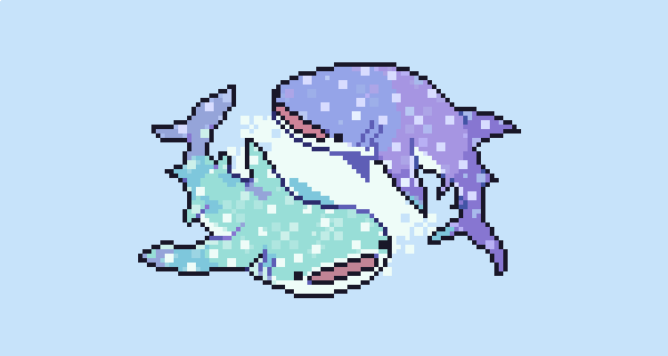 colourful whale #shark s. for todays #pixel_dailies @Pixel_Dailies #pixel #pixelart<br>http://pic.twitter.com/vHW50uQmEB