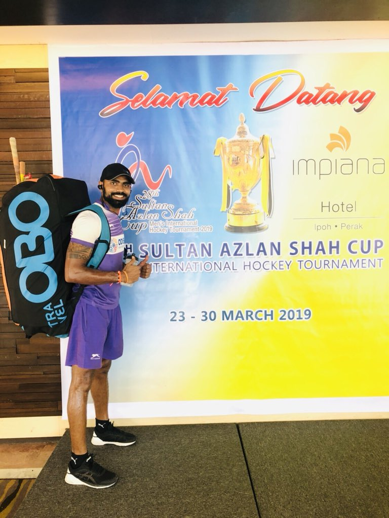 All set for the first match vs Japan .... #sultanazlanshah #hockey #tournament  @obohockey   #ipoh #malaysia #teamindia MST - 4pm