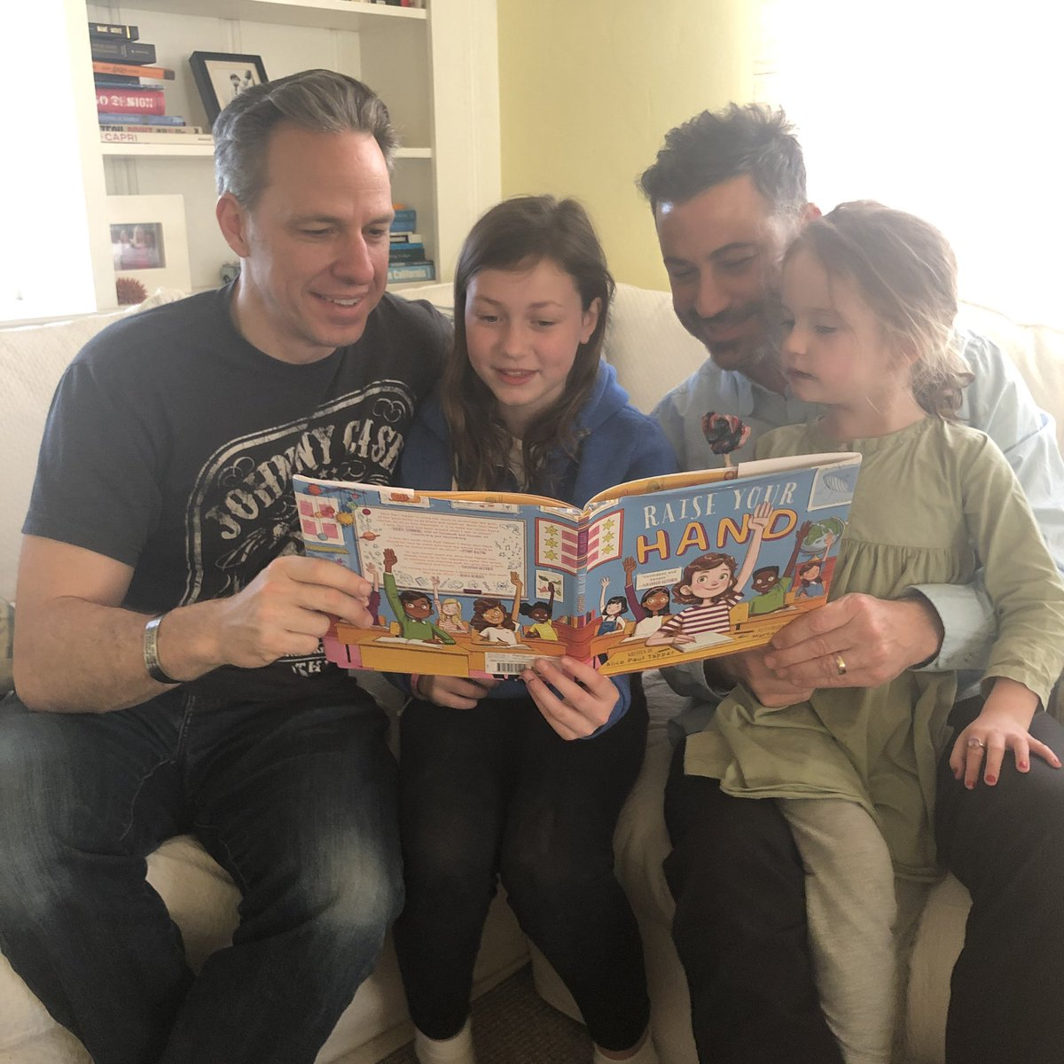 """Jane loves Alice Tapper's new book (as does Dad @jaketapper) support the Girl Scouts @GSCNC and get it here  """"Raise Your Hand"""" https://www.amazon.com/dp/1524791202/ref=cm_sw_r_cp_api_i_TYyLCb50ATQP0…"""