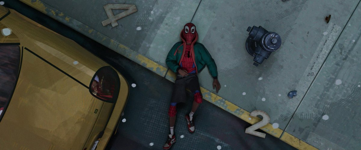 We hid the number 42 throughout the movie; this is just one instance when it pops up. In the comics, the spider that bites Miles has the number 42 - inspired by the legendary Jackie Robinson, who wore the number 42. See if you can spot the others! #VuduViewingParty @VuduFans<br>http://pic.twitter.com/GDQbTZtLY0
