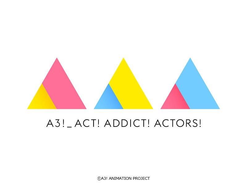 ★アニメロゴ解禁!★アニメ『A3!』のロゴが完成いたしました!合わせてツイッターアイコンも更新!バリエーション豊富なロゴとなっておりますので今後もお楽しみに♪#エースリー #エーアニ