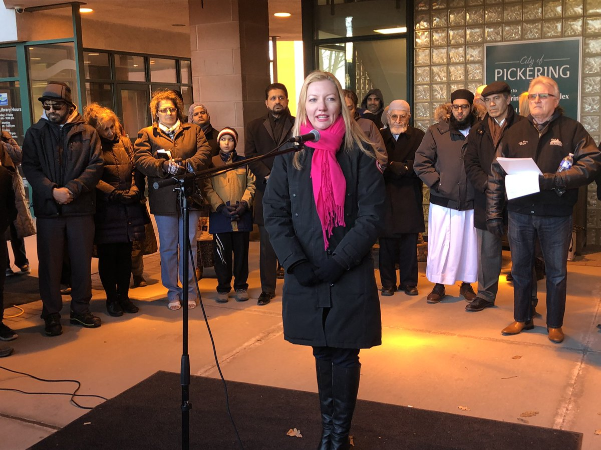 In Pickering, a vigil was held to remember the victims of terrorist attacks in Christchurch. We must unite &amp; fight against Islamophobia. Just like @JustinTrudeau said, thoughts &amp; prayers aren't enough. We must call out rhetoric that promotes division &amp; fear #DiversityIsStrength<br>http://pic.twitter.com/1U3uBAjB7E