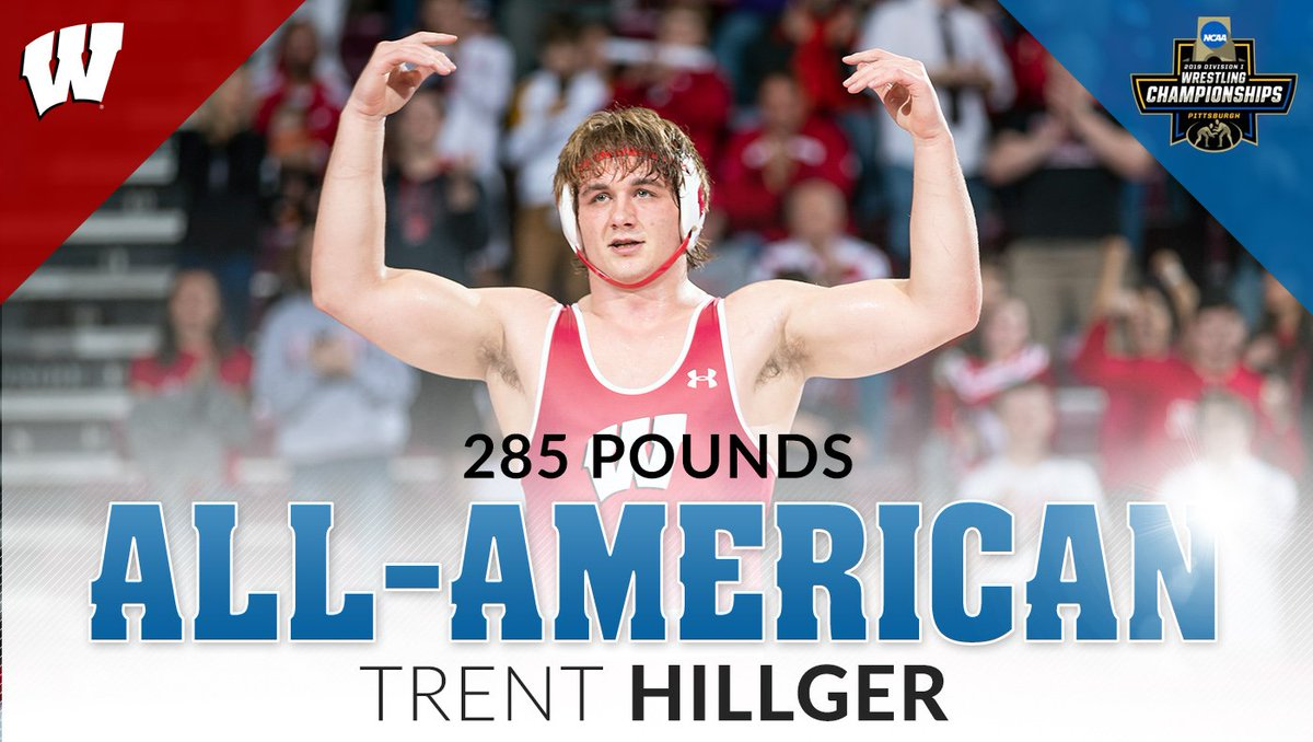 Ladies and gentlemen, the 67th All-American in Wisconsin Wrestling history, you know him as Thor........freshman @Trent_Hillger5!!!!!   #JumpAround // #OnWisconsin <br>http://pic.twitter.com/UfYMpoRVBb