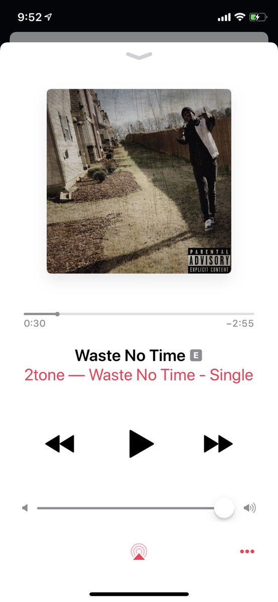 Waste No Time out on Apple Music, Spinrilla, and Spotify.. run it up for me 💯 ... whole lotta 🔥🔥 otw🤫