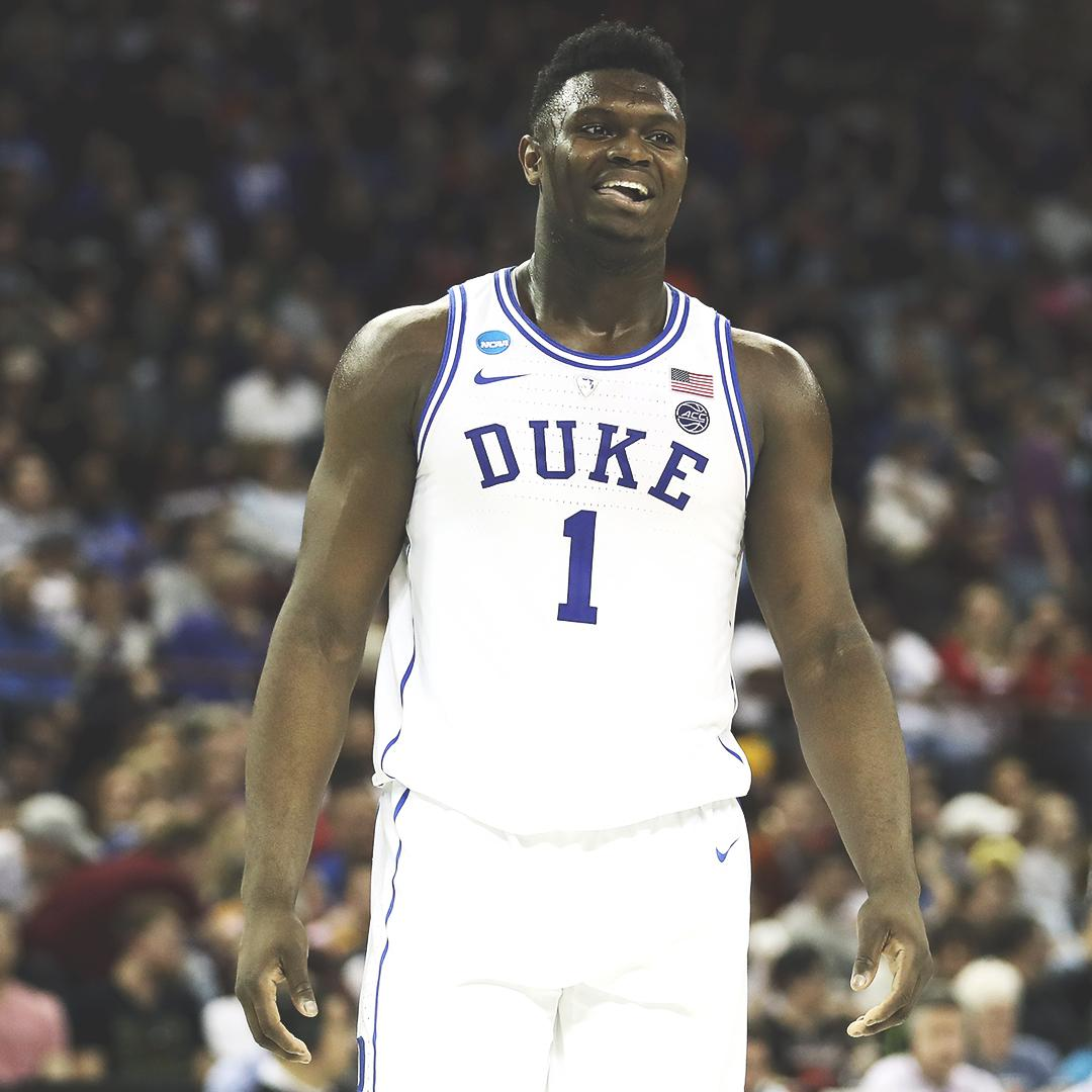 1-seed Duke vs. 9-seed UCF  6-foot-7, 285 lbs. vs. 7-foot-6, 310 lbs.  Bring on Zion Williamson vs. Tacko Fall �� https://t.co/uOPy8p9qyV
