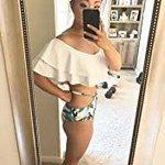 https://t.co/9pXjOiU7sg Tempt Me Women Two Piece Off Shoulder Ruffled Flounce Crop Bikini Top with Print Cut Out Bottoms:  https://t.co/kFJnb7O4fY