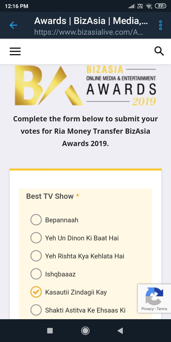I&#39;m done now it&#39;s your turn....let&#39;s vote. #ParthSamthaan #EricaFernandes #AnuPre #KasautiiZindagiiKay <br>http://pic.twitter.com/oc7gJPW2KY