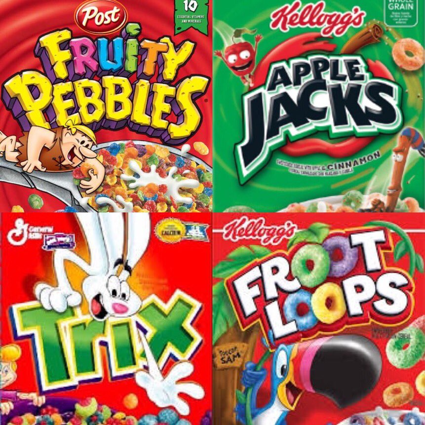 Fruity Pebbles Apple Jacks Trix  Froot Loops #1GottaGo