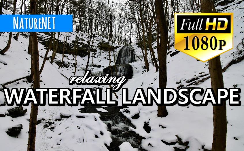 Winter Falls Landscape   Relaxing Nature Sounds https://buff.ly/2TZB4gh  #study #chill #sleep #relax #nap #meditate #waterfall #nature