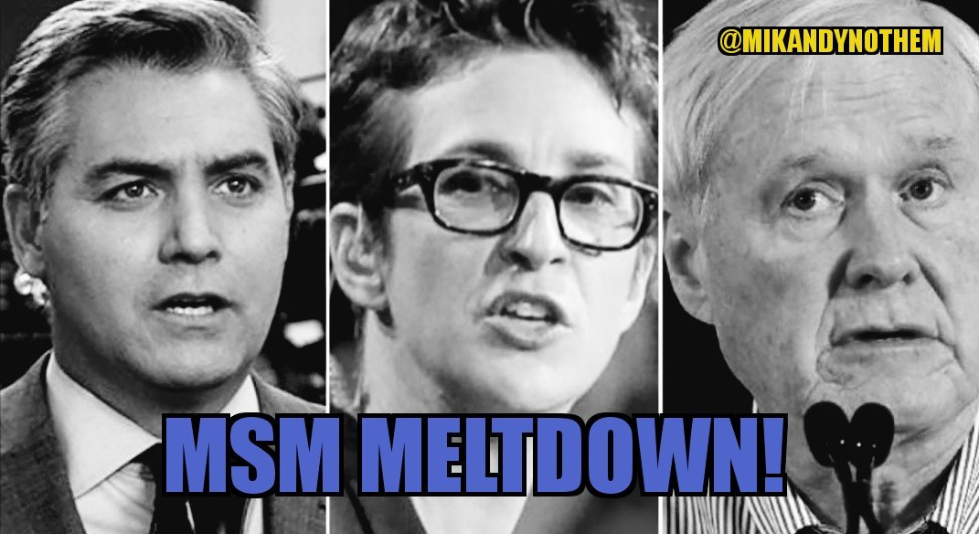 RETWEET if you are thoroughly enjoying #MSM Meltdown from NO COLLUSION.  Rachel @maddow was crying. @HardballChris Matthews was screaming.  Jim @Acosta was lamenting.  Life is good!   #IStronglyBelieveIn truth... #MAGA #tcot #FoxNews #SaturdayMorning #SaturdayMotivation<br>http://pic.twitter.com/bn8qDkl48z