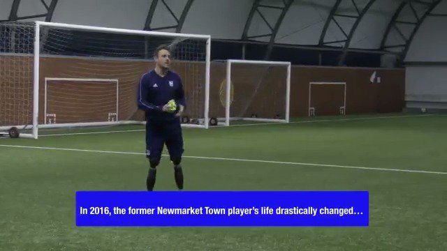 📆 In 2016, Shaun Whiter was involved in a hit and run and lost both of his legs.  🙌 He now coaches @IpswichTown Under 13s...  👏 ...and hopes to use his experience so he can help others at the club.   🤩 A real inspiration.  🎥 @IpswichTown