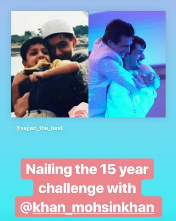 Somethings never changes. Just as their beautiful, precious bond.. This is ADORABLE ❤❤ God bless them always 😘 #BrothersLove #MomoSajjad