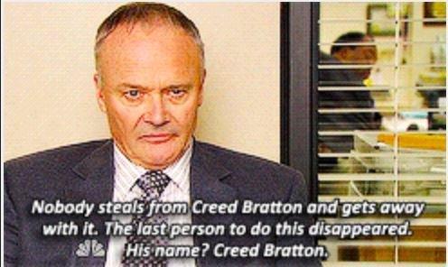 I  Creed #TheOffice <br>http://pic.twitter.com/tj1aYta9HU