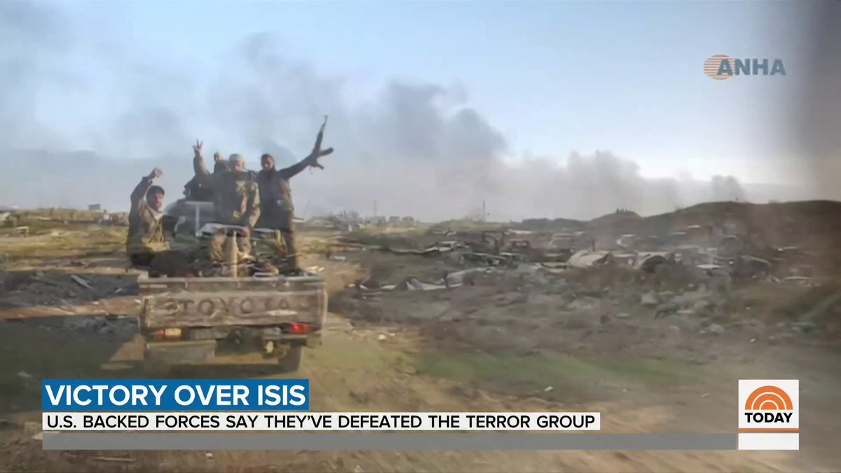 U.S.-backed forces say they have defeated ISIS as the last stronghold has been freed. NBC's @MattMcBradley reports from Syria.
