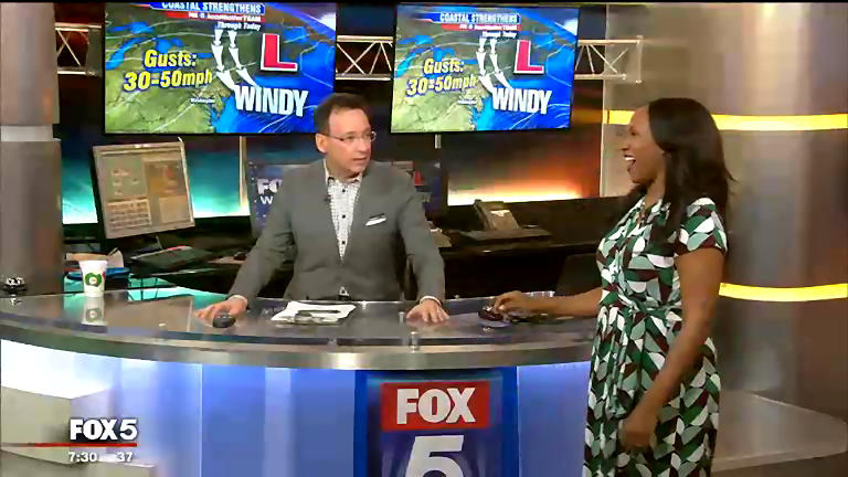 Good morning to the @fox5dc crew today.  In for @CoriC_FOX5DC is @TishaLewis @garyfox5dc with the blustery forecast and @heyfrase with Hot on The Web