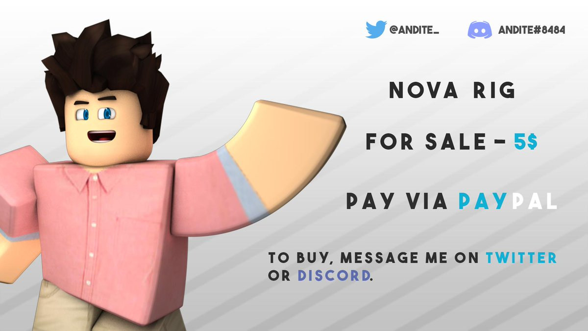 Nova Cartoon Rig is now officially on-sale!  Get it for 5$. (Free updates for buyers) I don&#39;t accept robux sorry.  To buy, please message me on Twitter or Discord.  #Roblox #RobloxDev #RobloxGFX   Please retweet this, it would be a big help and it will be appreciated. Thanks!<br>http://pic.twitter.com/AKrrOx6VhG