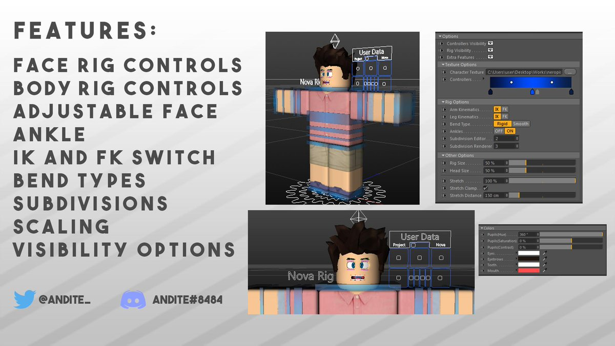 Andite On Twitter Nova Cartoon Rig Is Now Officially On Sale Get It For 5 Free Updates For Buyers I Don T Accept Robux Sorry To Buy Please Message Me On Twitter Or Discord
