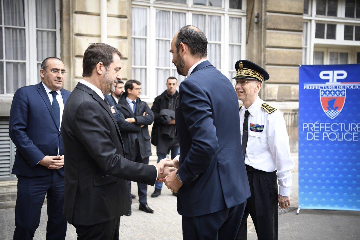 Premier point sur le dispositif de maintien de l'ordre à Paris avec @CCastaner, @NunezLaurent et le @prefpolice.