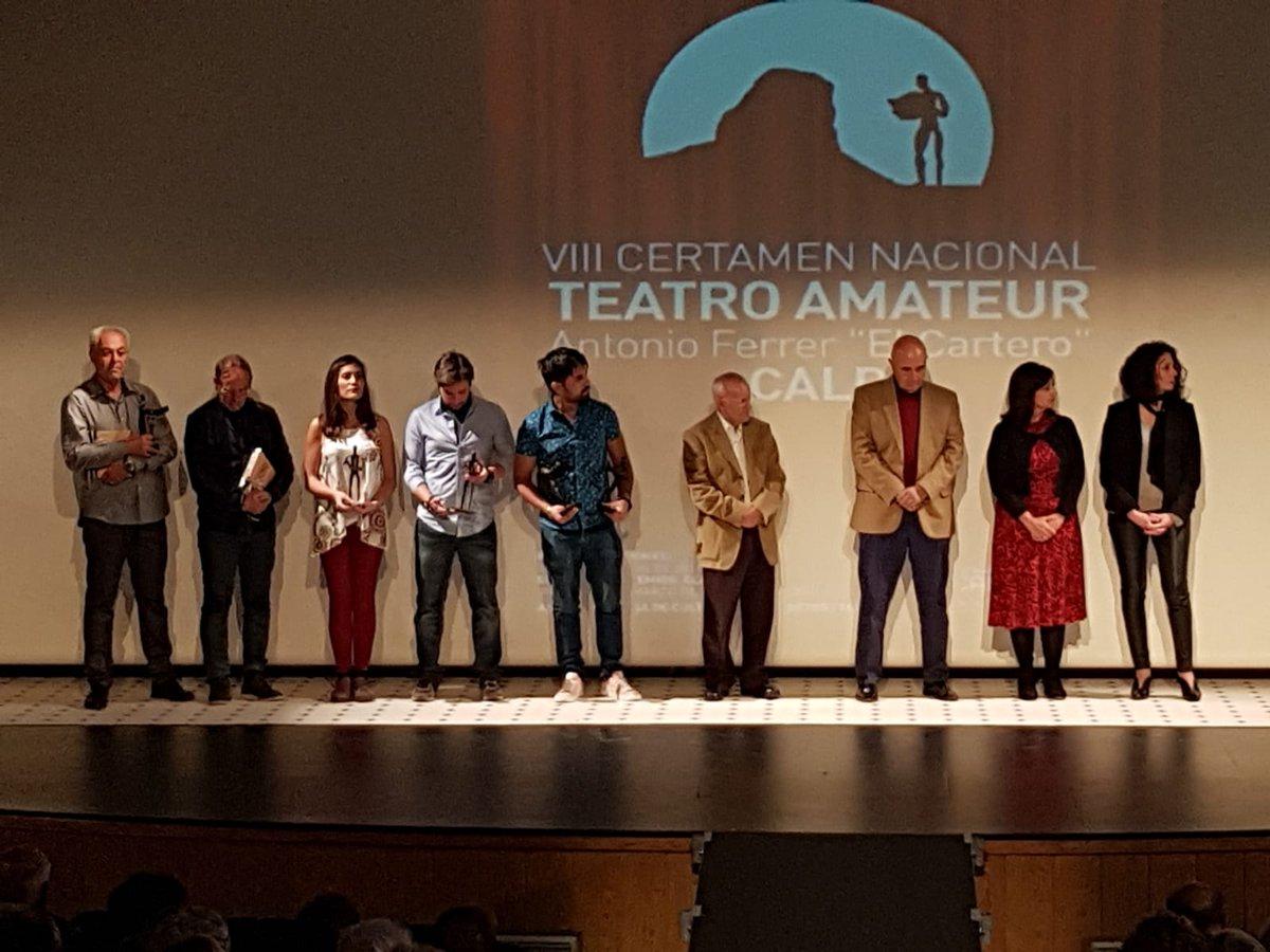 """Enhorabuena a todas las personas premiadas en el VIII Certamen de #Teatro Amateur """"Antonio Ferrer El Cartero""""!!! 👏👏👏 #Calp #Calpe #Alicante #Alacant #teatre cc @TurismoCalp @culturacalp"""
