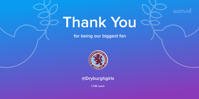 Image for Our biggest fans this week: @Dryburghgirls. Thank you! via https://t.co/a9sESO9zBQ https://t.co/YRRd0ORMy9
