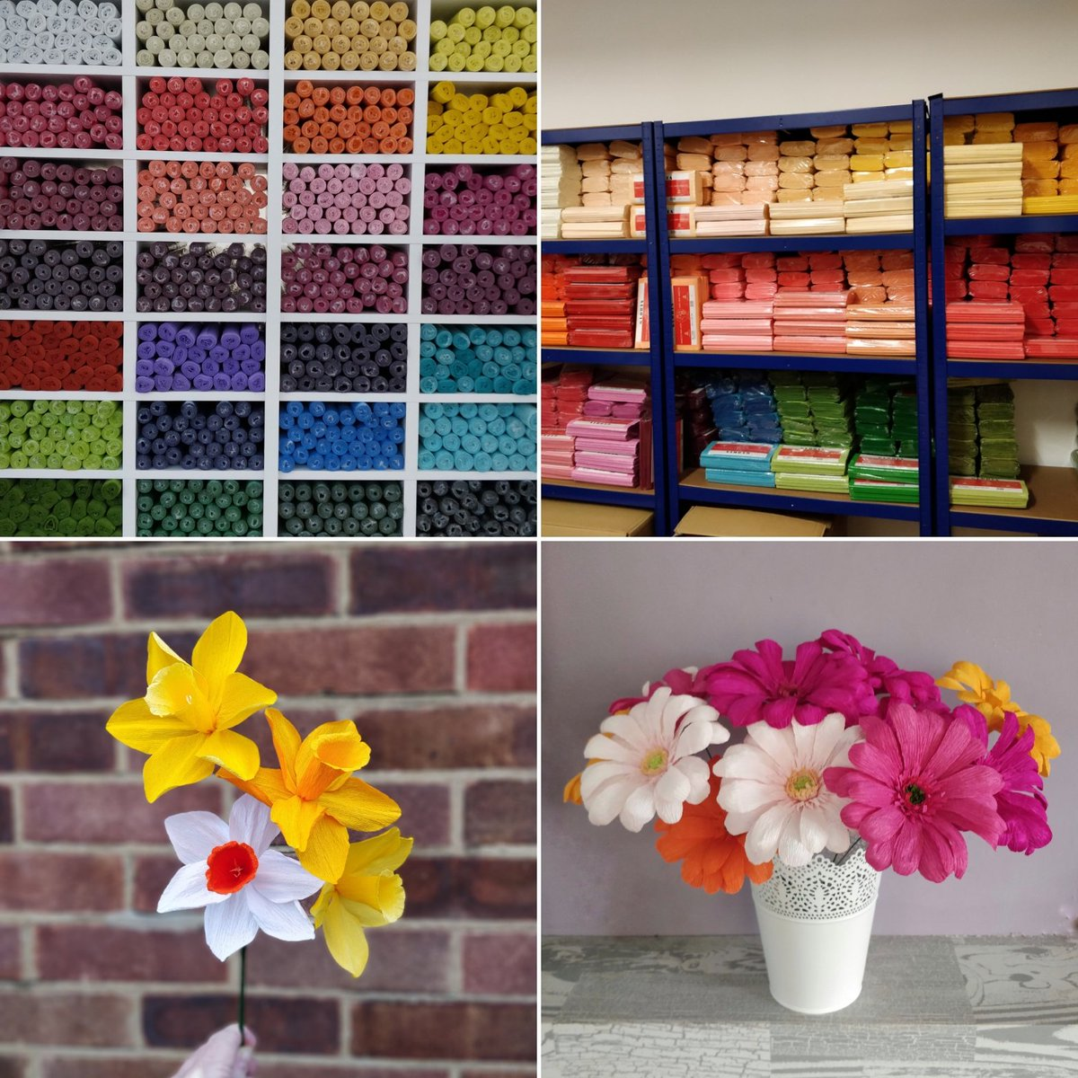 In need of crepe paper? I&#39;ve got you covered... Shelves are now fully stocked with florist heavy crepe and doublette crepe paper, and there&#39;s plenty of colours   #Bedford #paperflorist #crepepaper #paperflowers #ShopLocal #SmallBiz #SmallBusiness #crafts<br>http://pic.twitter.com/ueqHZzNlBN