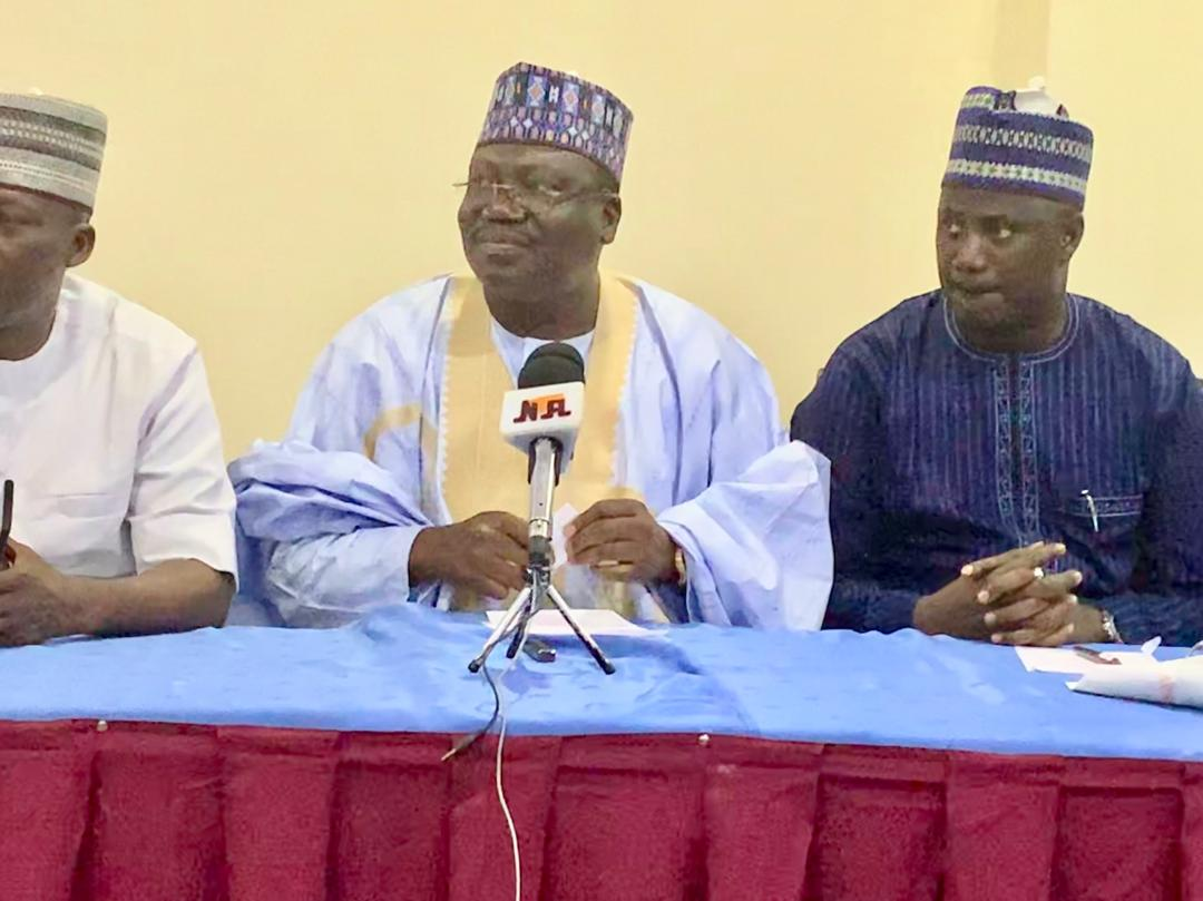 FLASH: Senator Ahmad Ibrahim Lawan (Yobe North Constituency) has formally declared his intention to head the 9th @nassnigeria at Rockview Hotel Abuja yesterday. <br>http://pic.twitter.com/WUP0LN9aK0