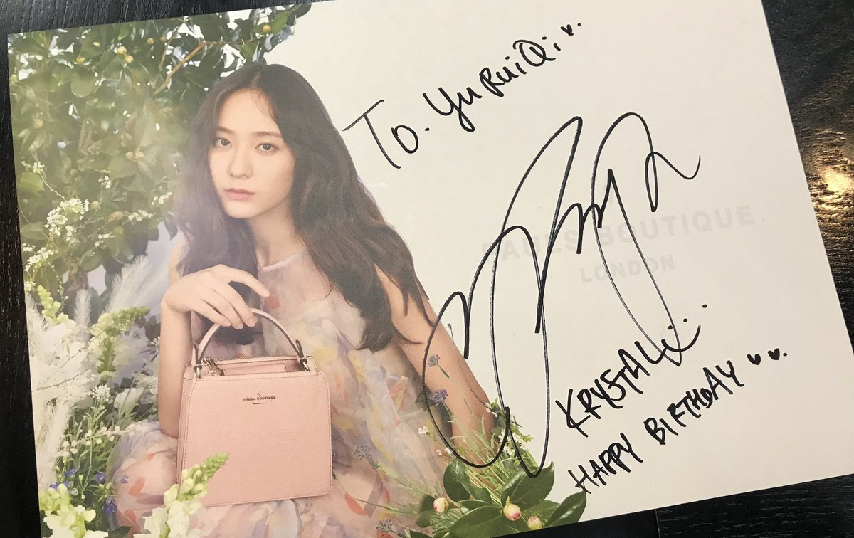 """my friend:unnie my birthday is next month(23.04 ) k:really? f:yes then soojung wrote """"happy birthday """" down  sweetheart soojung <br>http://pic.twitter.com/QI5jtZfbMC"""
