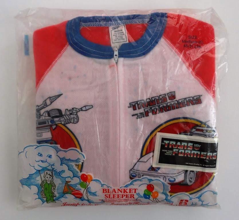 Jazz Blanket Sleeper (Onesie), Riegel Textile Corp, made in USA 1984 #transformers #g1transformers #jazz