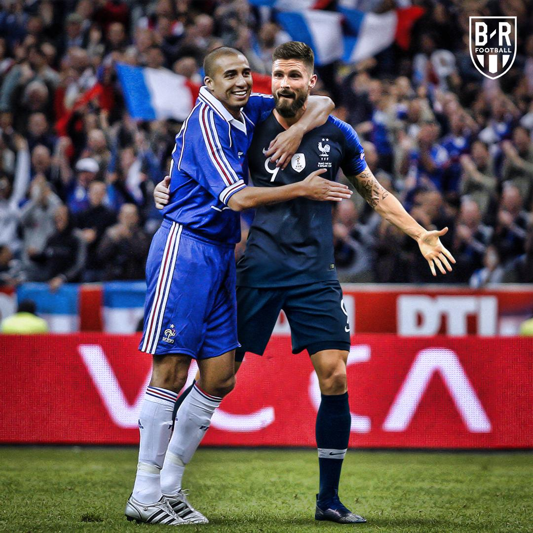 @_OlivierGiroud_ has now levelled David Trezeguet in third as one of France&#39;s all-time top goalscorers  <br>http://pic.twitter.com/1yPSQ4AWwk