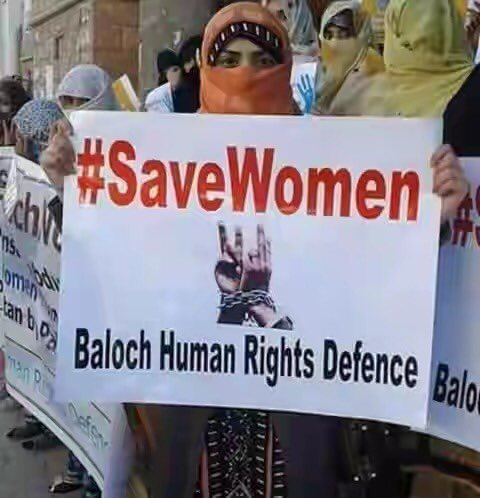 According to Baloch activists, Pakistan Army has kidnapped two women...Bibi Noori and Jaan Bibi from Mashkay, Balochistan to put pressure on Baloch freedom fighters. @OfficialDGISPR can you please confirm where you have imprisoned the women? (Reference Image) .<br>http://pic.twitter.com/wqZnKNROPI