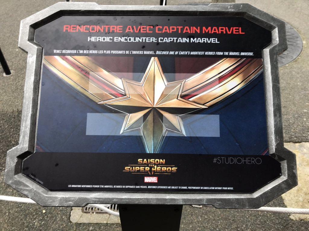 LIVE : Captain Marvel will be there at 11:15am!😉 #DLPLive #DLP #Disney #DisneylandParis #WaltDisneyStudios