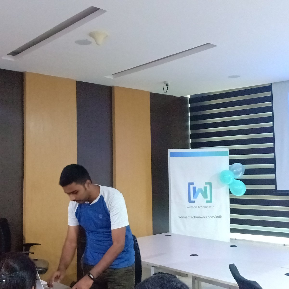 Look who&#39;s speaking.! We have @RAKHI_2104 talking on &quot;Going Serverless from Zero to Hero&quot; with @Firebase! #IWDWTMVIZAG19 #IWD2019  <br>http://pic.twitter.com/c1ZpZE7TkR