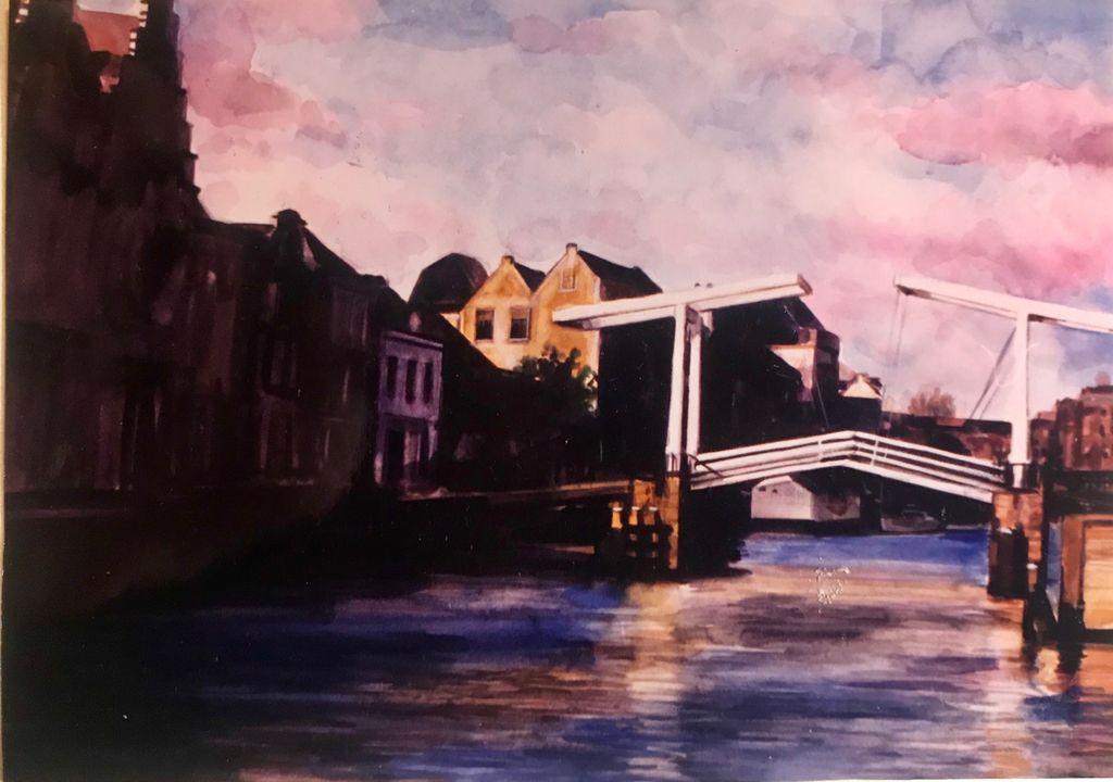 Watercolour 'Haarlem'