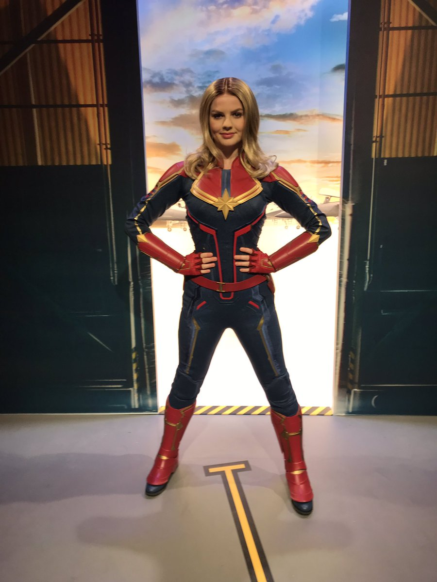❤️💥LIVE : Captain Marvel is arrived at Disneyland Paris!!💥💙 #DLPLive #DLP #Disney #DisneylandParis #StudioHero #WaltDisneyStudios @DisneylandParis