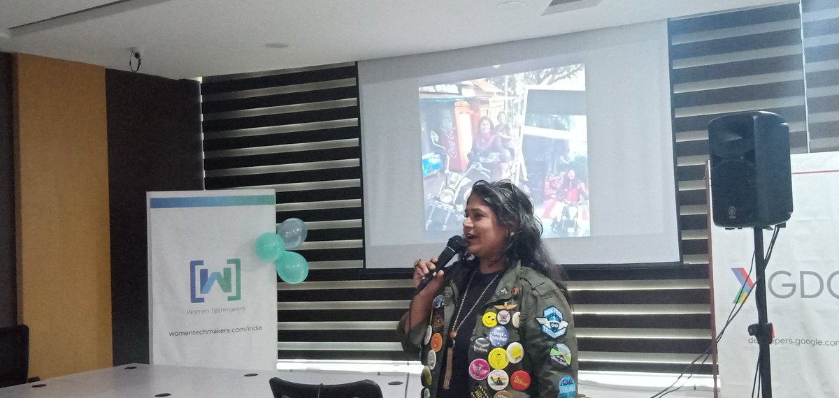 Vaishali, a biker mom shares her experiences about going on rides with a cause! #IWDWTMVIZAG19 #IWD2019  @gdg <br>http://pic.twitter.com/rMGarukis9