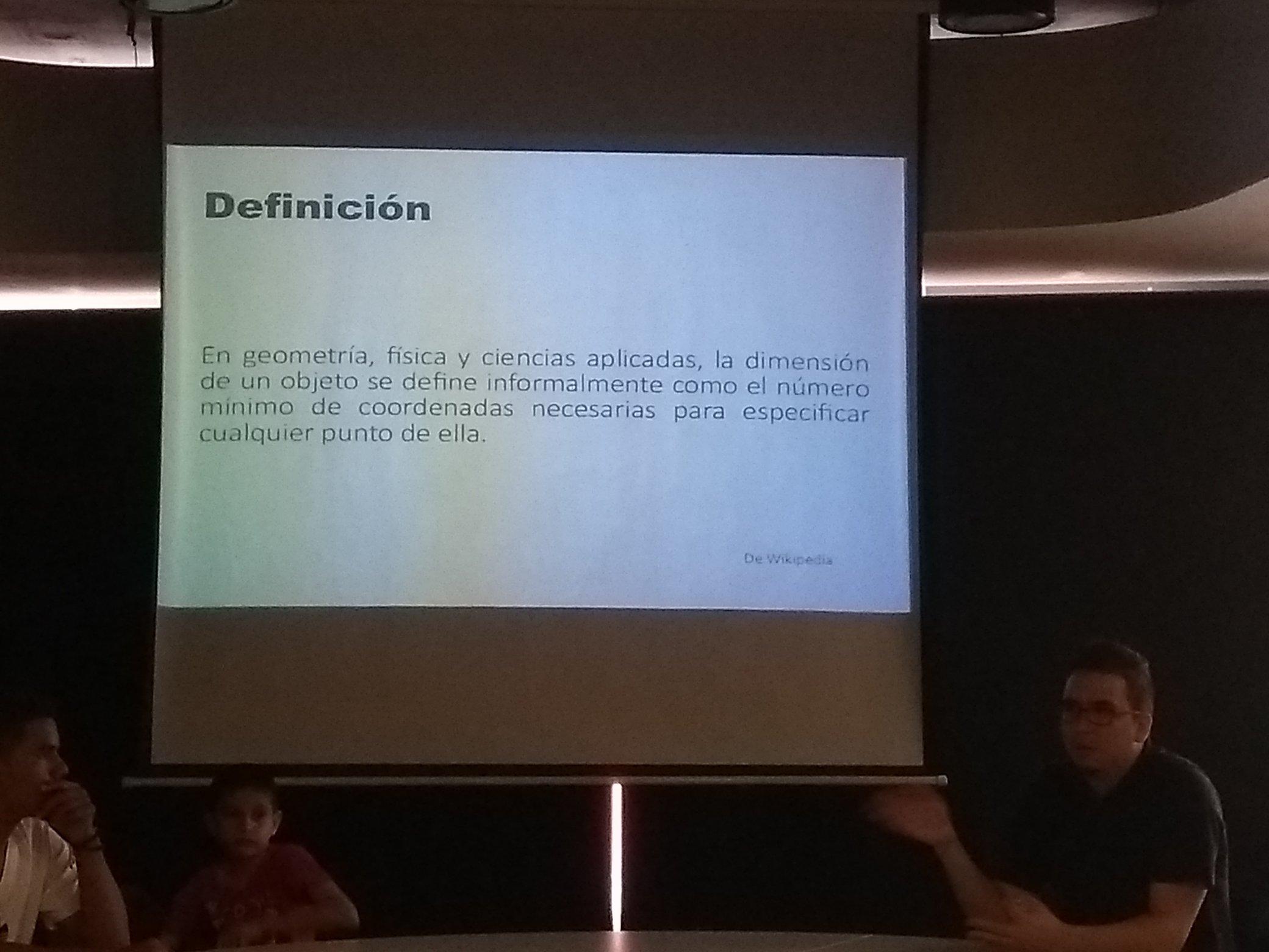 Diapositiva de definición de dimensión.
