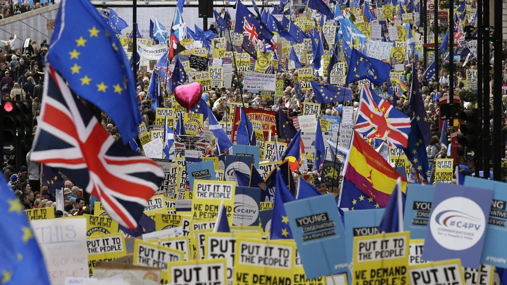 Today a million people marched to say NO to #Brexit. Brexit shows that you can tell lies to win a referendum but then you will be defeated by reality.<br>http://pic.twitter.com/u1x29u7P2G