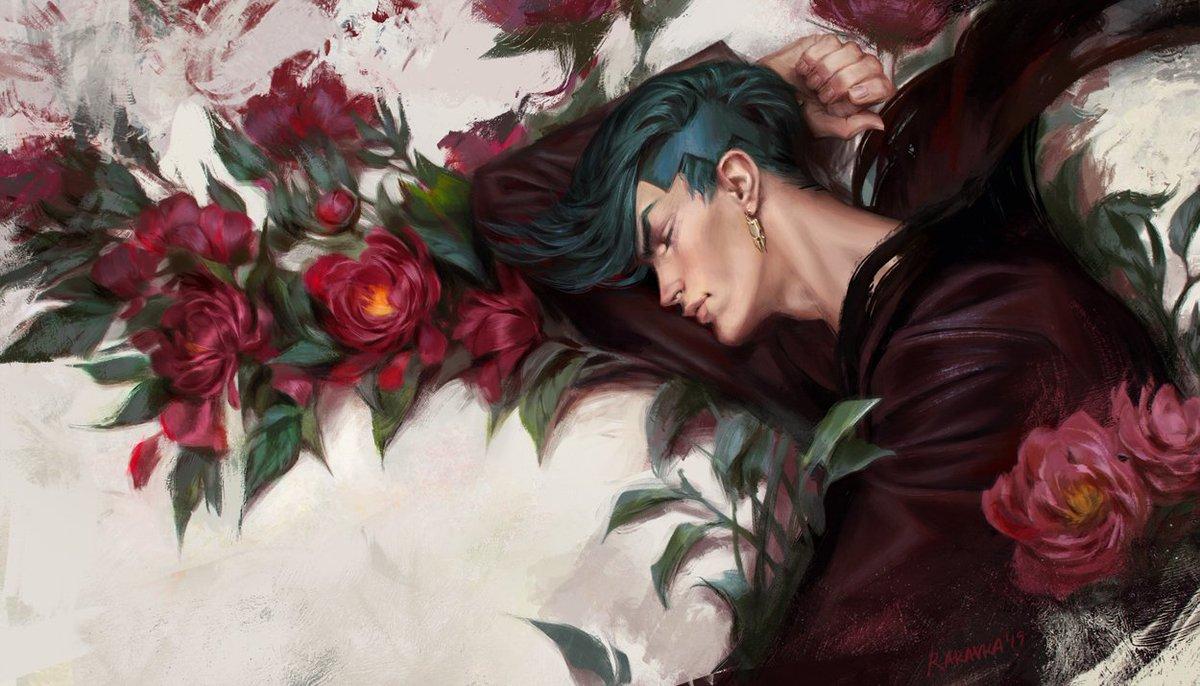 He&#39;s an angel... when he&#39;s asleep #jojo #jjba #jojosbizarreadventure #rohan #rohankishibe #peony   I launched a Patreon page, and it will be supercool if you support my art   https://www. patreon.com/rakavka  &nbsp;  <br>http://pic.twitter.com/0IsqMCDlso
